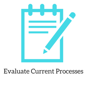 This icon represents the second step in my personal process when completing a project. The image includes an outline of a notebook with a pencil
