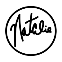 Natalie Gintert's personal logo. Image includes the name Natalie in cursive handwriting enclosed in a black circle.